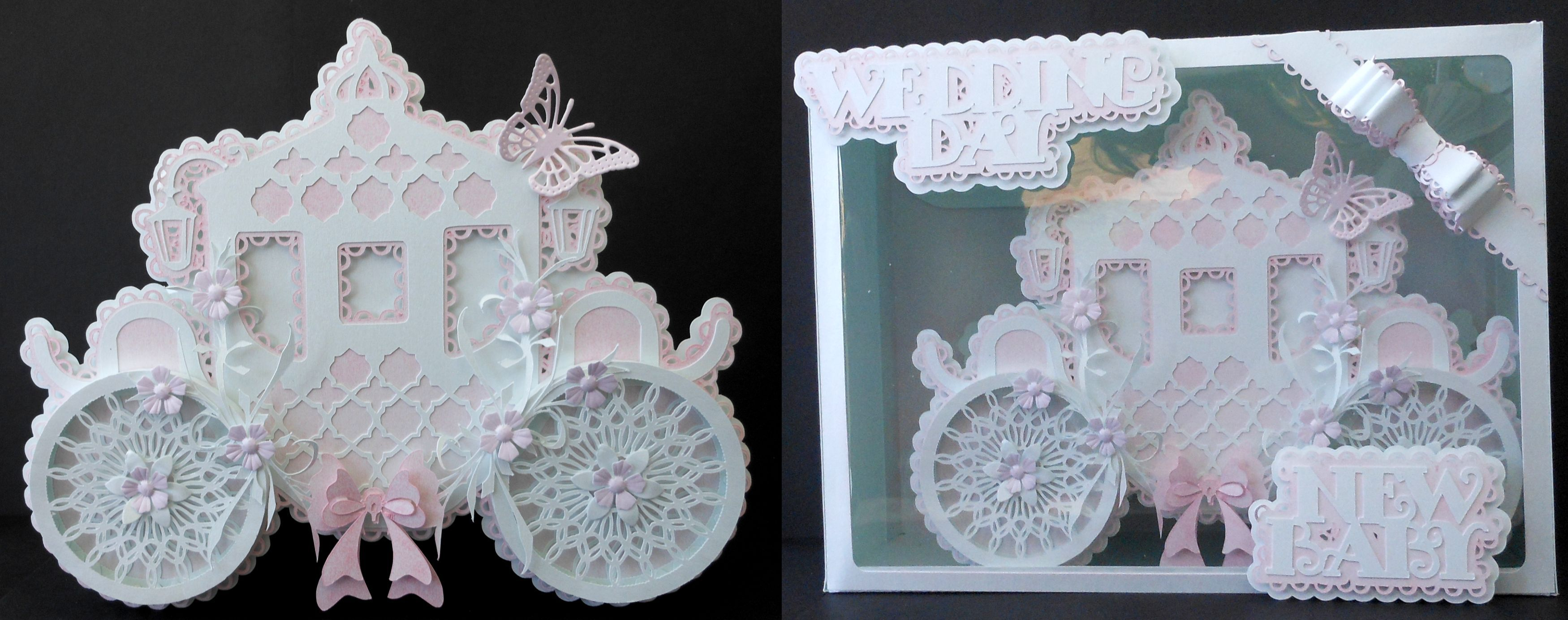 Designed and cut on Silhouette Cameo.... for Weddings or New babies