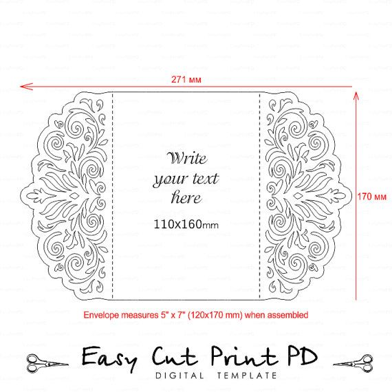 Wedding Stationery Invitation Pattern Card Templates Svgfiles Etsy In 2021 Card Patterns Cricut Cards Cards