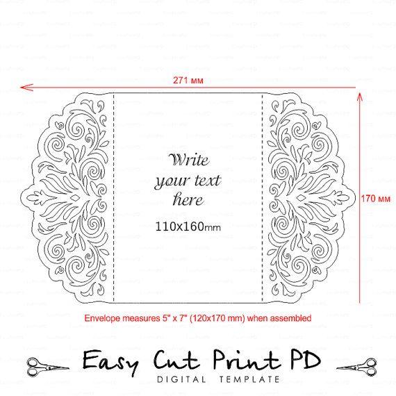 Lotus Flower Place card Wedding Place card cut file SVG Studio V3 Silhouette EPS PDF