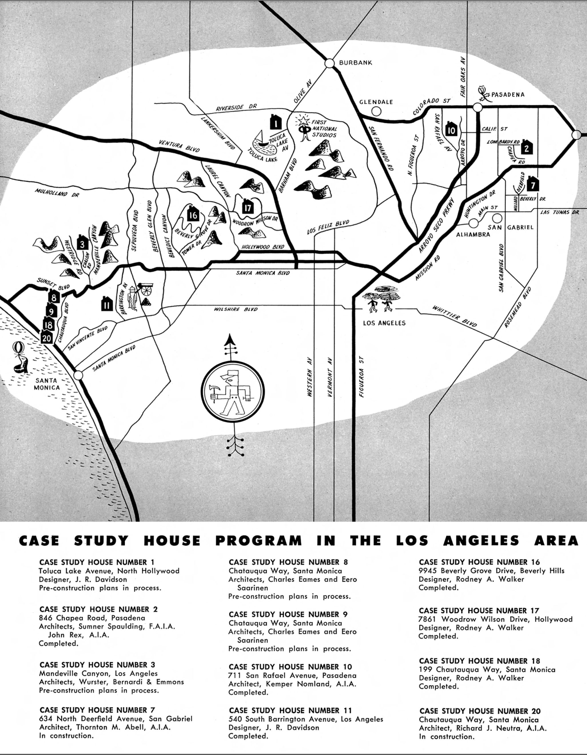 Resultado de imagen de case study house mapa