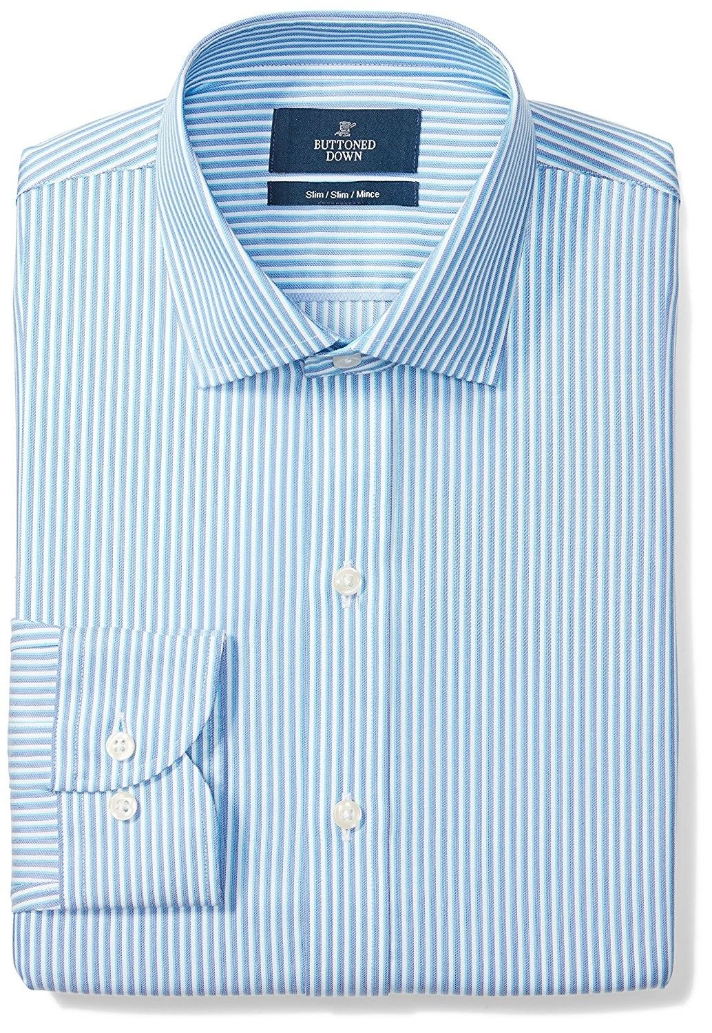 Mens Slim Fit Spread Collar Pattern Non Iron Dress Shirt Without
