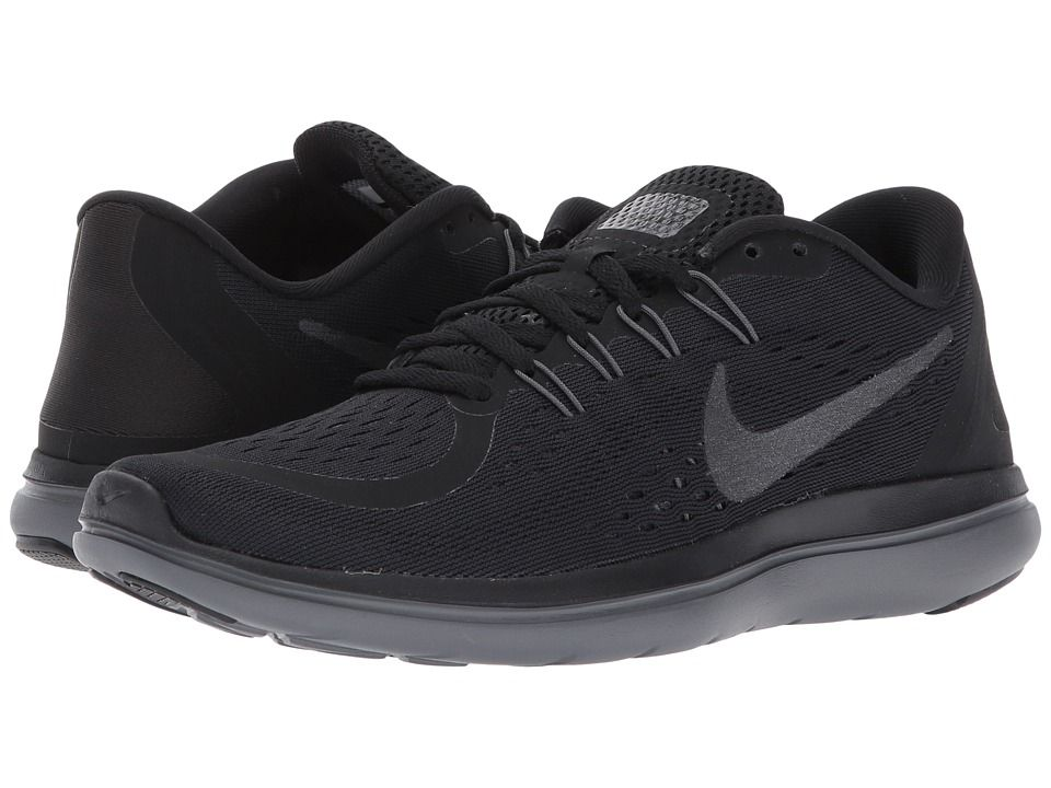 aa8777d12a1d3d Nike Flex RN 2017 (Black Metallic Hematite Anthracite Dark Grey) Women s