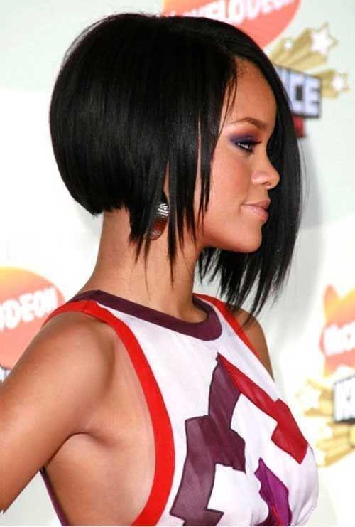 Bob Haircut And Hairstyle Ideas Rihanna Hairstyles Celebrity Short Hair Short Hair Styles