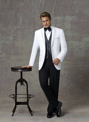 While I Do Think That A Black Tux Should Have Accents Tie Vest With Diffe Colors The White Jacket Looks Way Too Casual