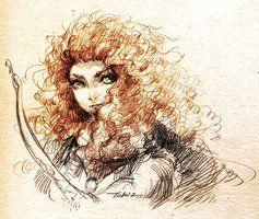 Sketch of Brave by Feohria
