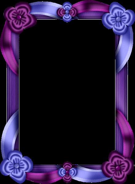Transparent Purple Frame | Purple and Blue Transparent Photo Frame ...