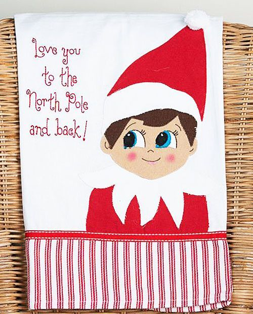 letters to santa video shelf embroidered embellished dish tea 9263
