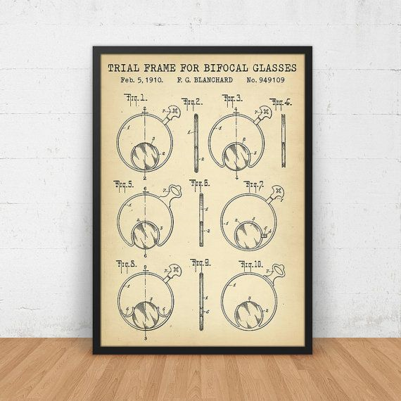 Trial Frame For Bifocal Glasses Patent Print by DigitalBlueprints