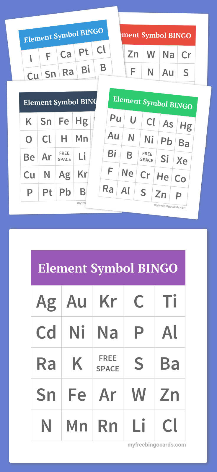 Periodic Table Element Symbol Bingo The Periodic Table Pinterest