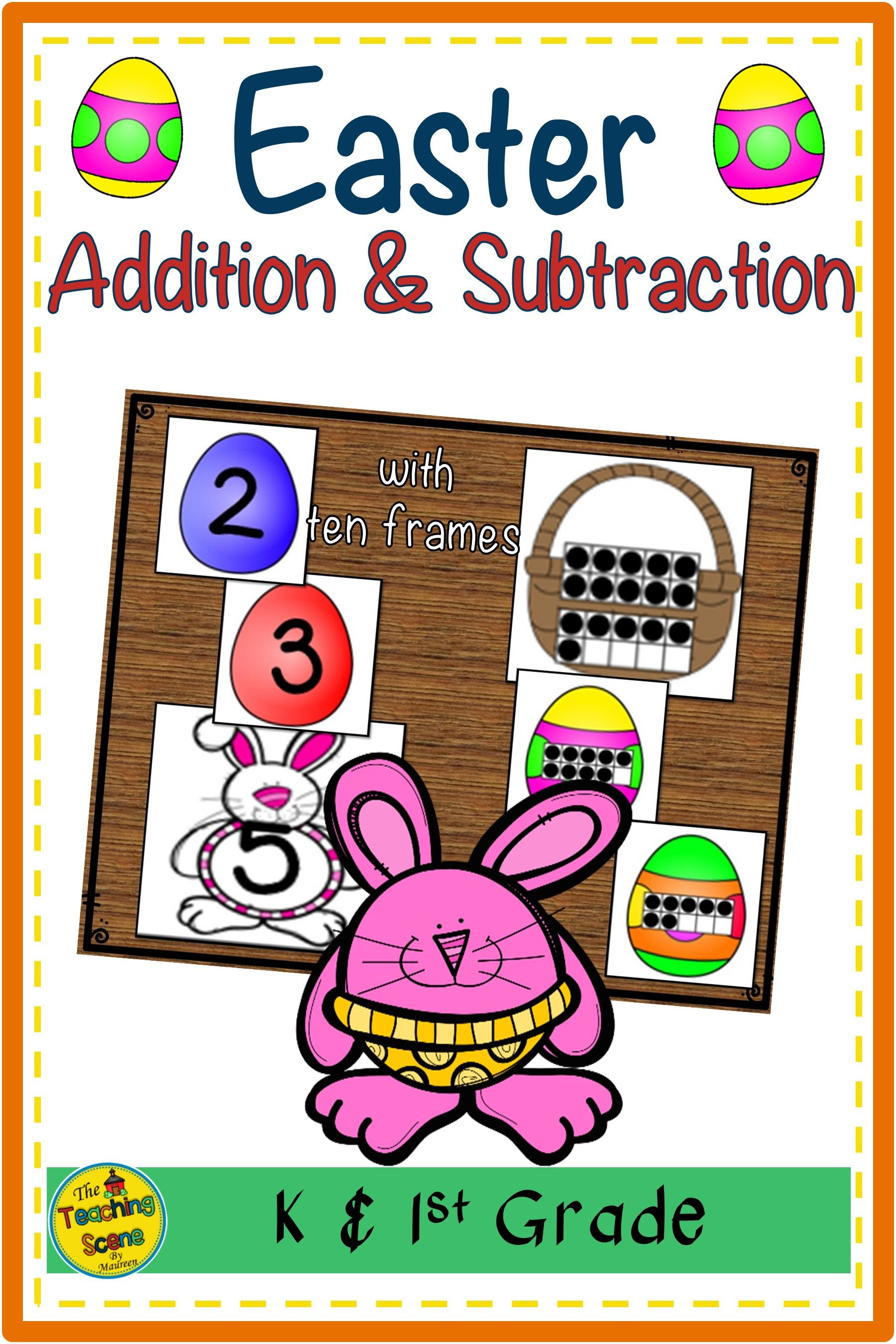 Easter 2 Addend Addition Amp Subtraction With Ten Frames In