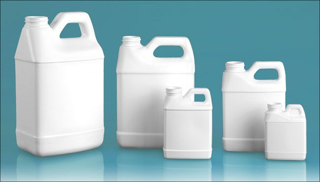 White HDPE F-Style Jugs (Bulk), Caps NOT Included   bottles