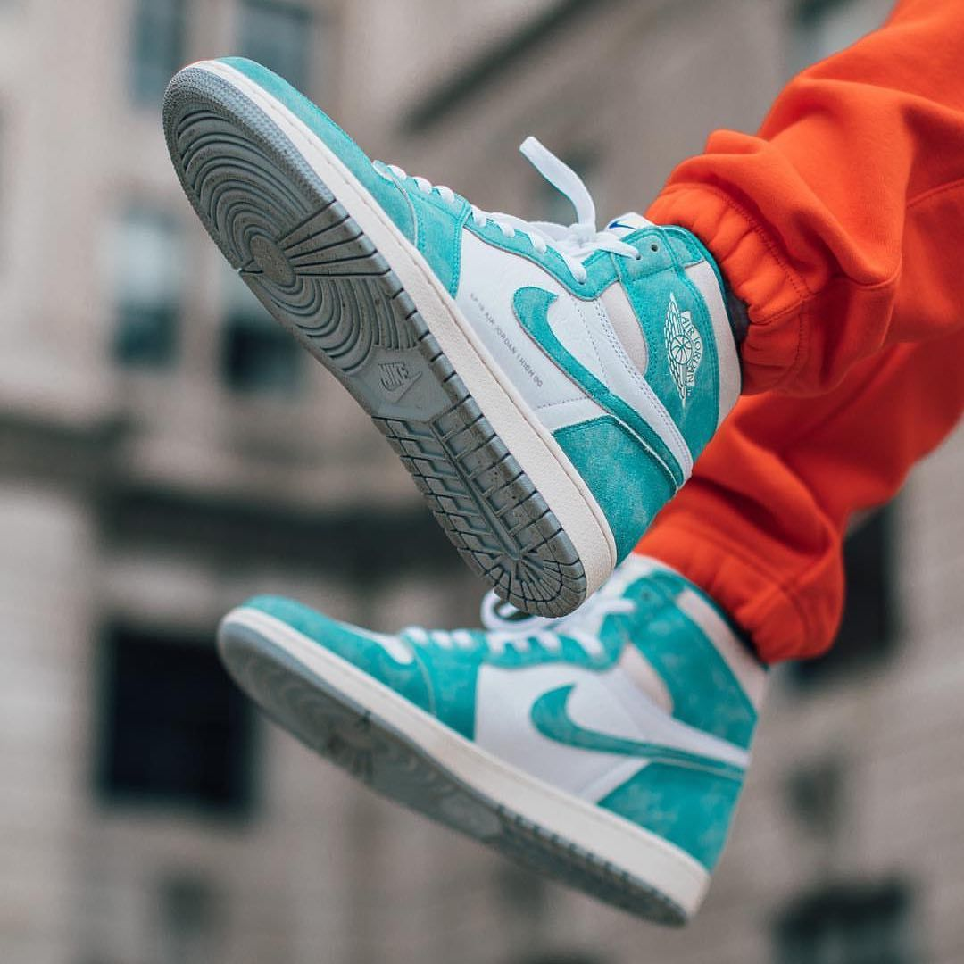 Air Jordan 1 Turbo Green Sneakers Mode Turnschuhe Damen