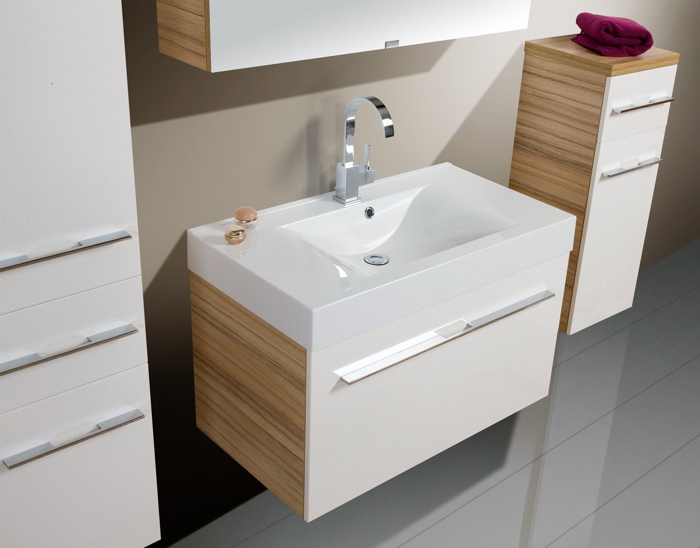 Melamine Bathroom Vanity Cabinet,floor Standing Bathroom Cabinet,wall Hung Bathroom Vanity