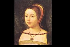 Margaret Tudor (1489-1541). She was the sister of King Henry VIII, the mother of Mary, Queen of Scots, and the great-grandmother of James I of England. Her first marriage (at the age of 13) to James IV of Scotland was by far the happiest of her three marriages.