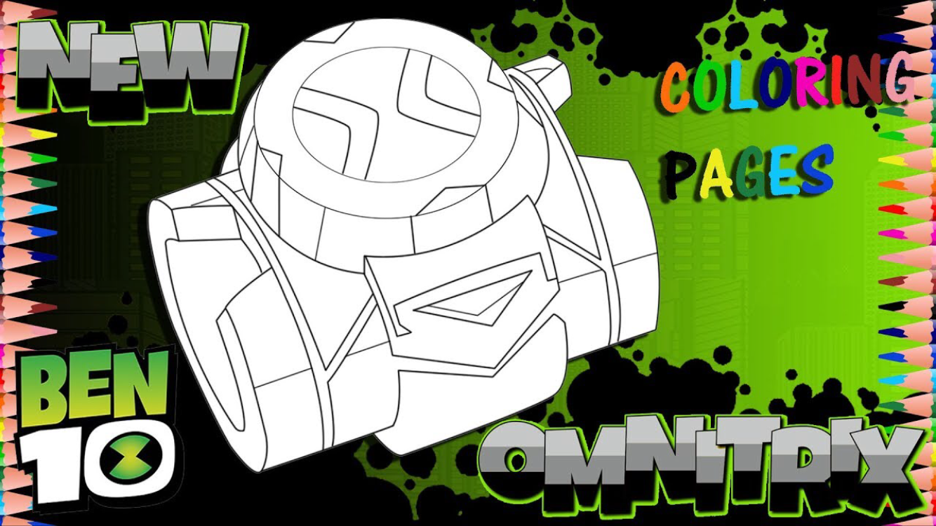 New Cartoon Network Reboot Ben 10 New Omnitrix Coloring Page