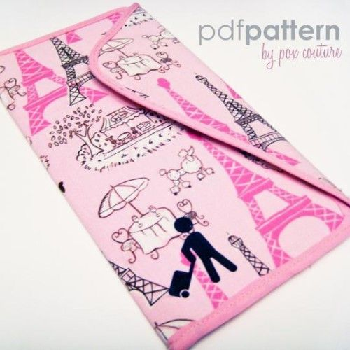Thinking about this to try to corral my crapload of receipts I'm always collecting.   Passport and Ticket Holder PDF SEWING PA Pattern