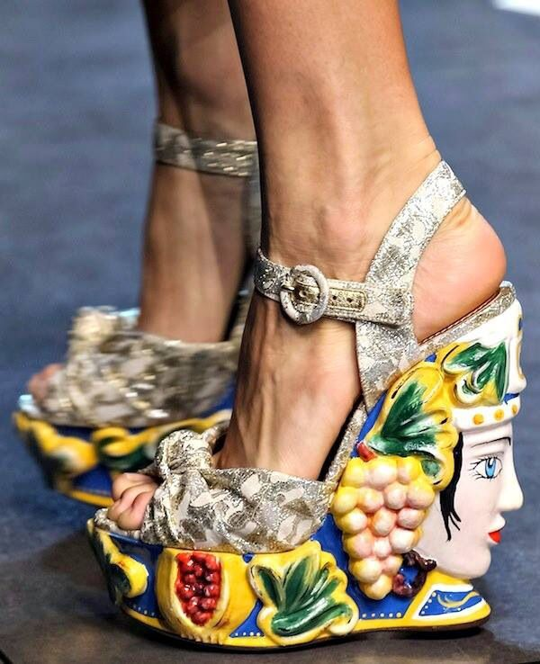 41a55406c MUST HAVE - Brighten up your shoe collection with a pair of wedge sandals  inspired by the Sicilian Moor Vases that decorate Sicilian homes and the  window ...