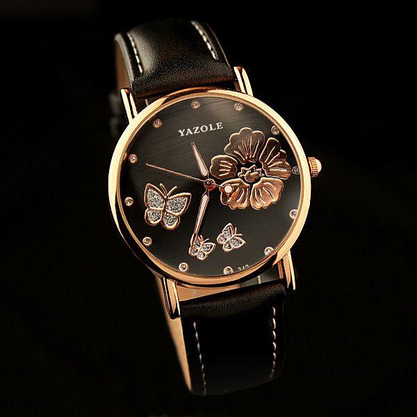 b571fec027b Yazole butterfly senhoras relógio de pulso mulheres 2017 famosa marca de  luxo relógio de quartzo relógio feminino montre femme meninas relogio ...