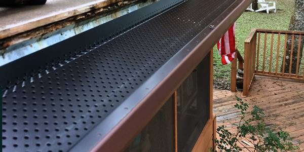 Perforated Metal Leaf Guards Keep Your Gutters Clean Cleaning Gutters Perforated Metal Leaf Guard