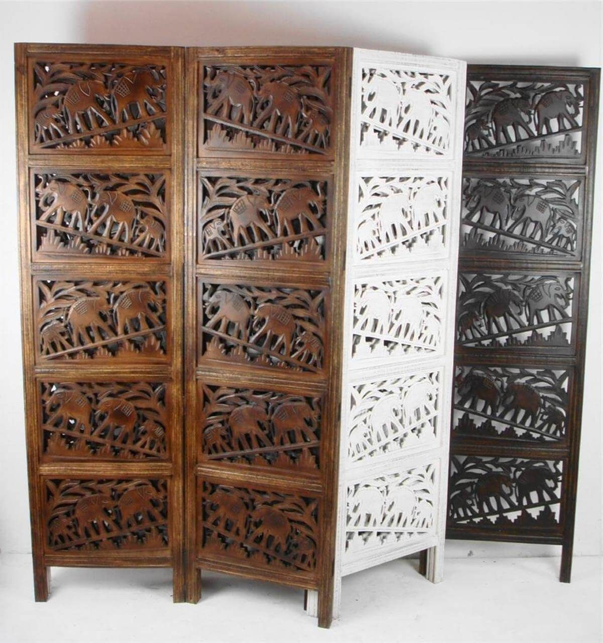 Traditional style and uniquely flexible panel room divider design