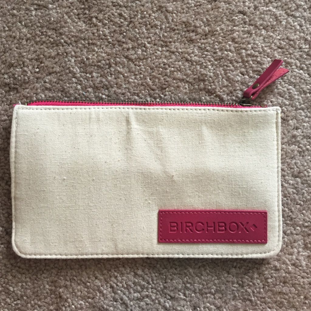 Small Canvas Zipper Cosmetic Pouch