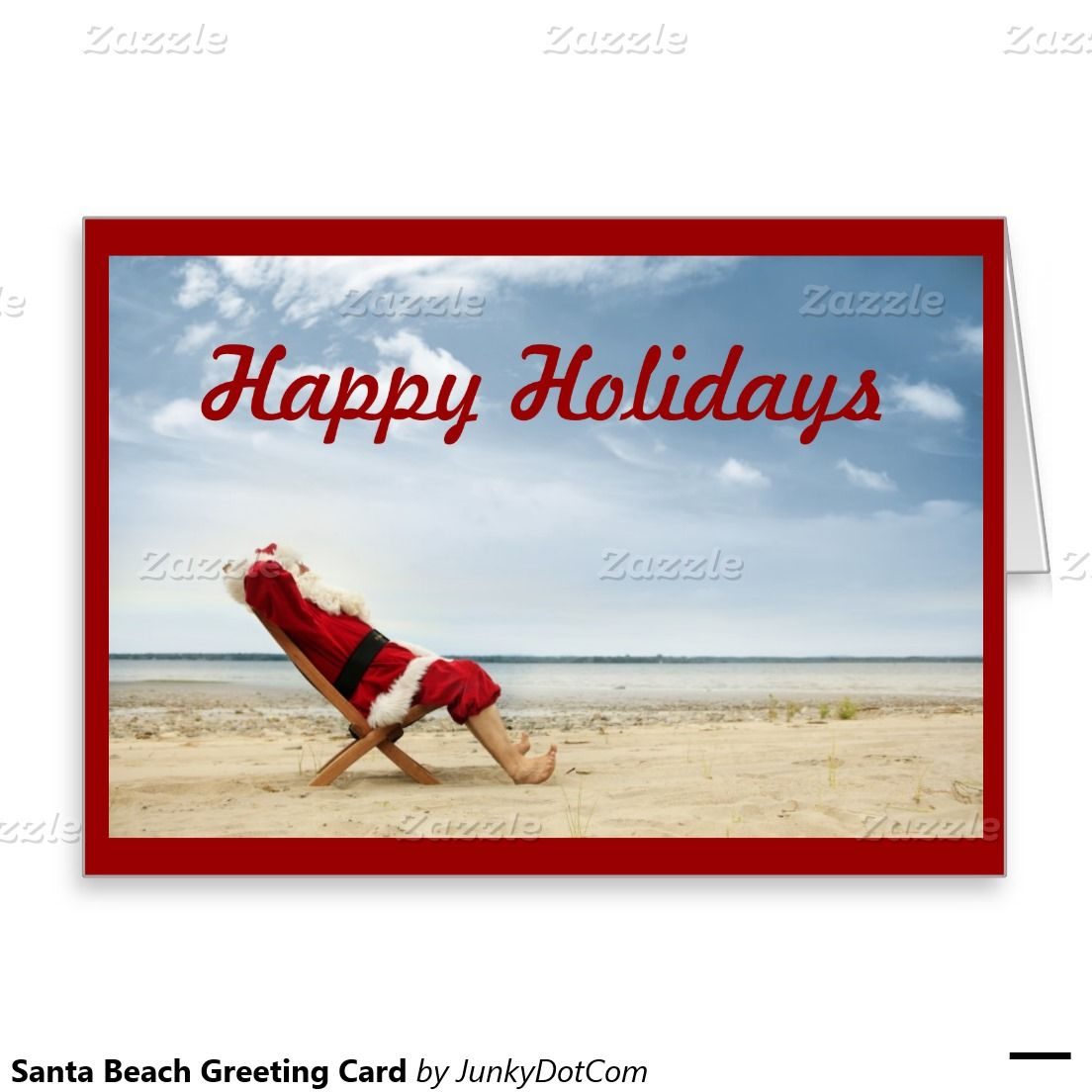Santa beach greeting card nov 30 cyber monday 2016 best explore beach christmas cards beaches in florida and more kristyandbryce Gallery