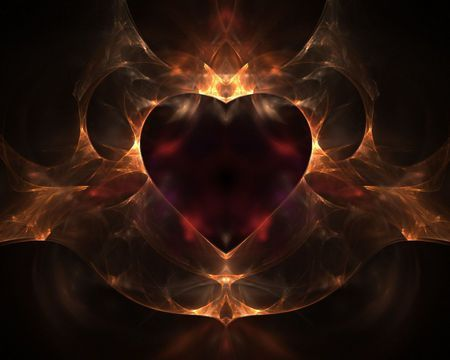 Flaming Heart For My Dearest
