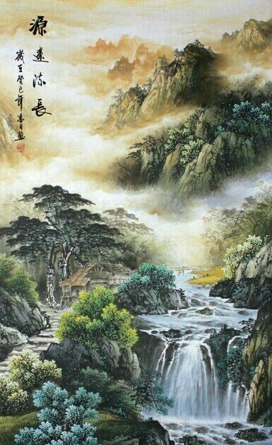 Paling Hits 30 Lukisan Pemandangan Alam China Promo 12 12 Lukisan Alam Harbolnas Januari 2020 B In 2020 Chinese Landscape Painting Chinese Landscape Asian Landscape