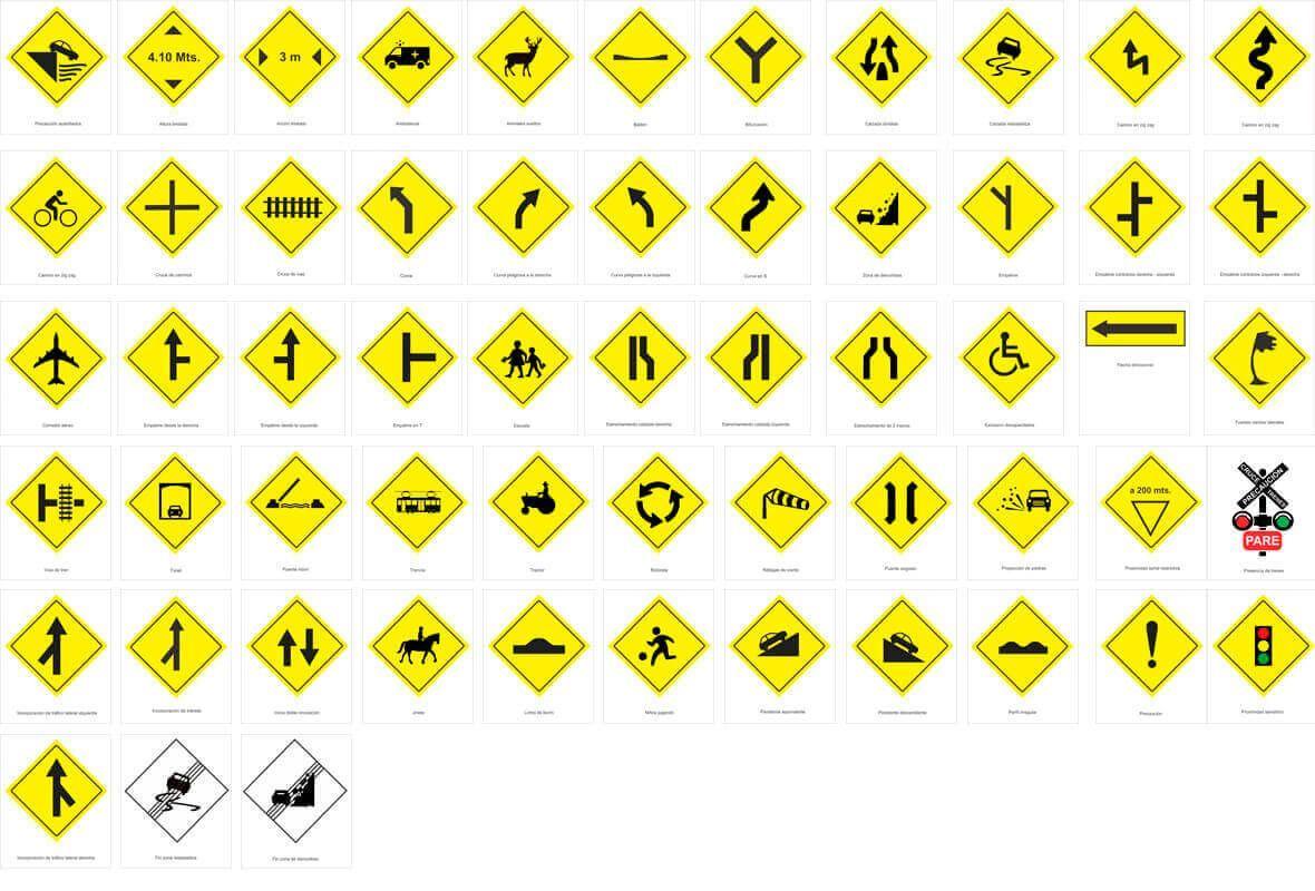 Señales De Tránsito Preventivas O Prevención Señales De Transito Señales De Trafico Señales Preventivas