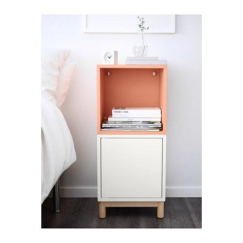 Eket combinazione di mobili con gambe bianco salmone for Gambe per mobili ikea