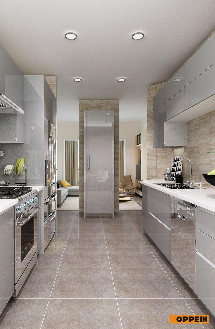 Modern Light Grey High Gloss Acrylic Kitchen Cabinet Luks Mutfaklar Yeni Mutfak Modelleri Mutfak Dolaplari
