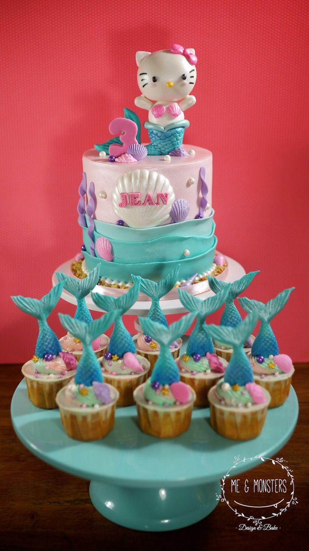 Hello Kitty Mermaid Theme Cake Hello Kitty Birthday Party Ideas
