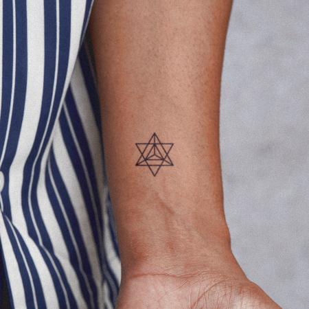 Merkabah Tattoo - Semi-Permanent Tattoos by inkbox™