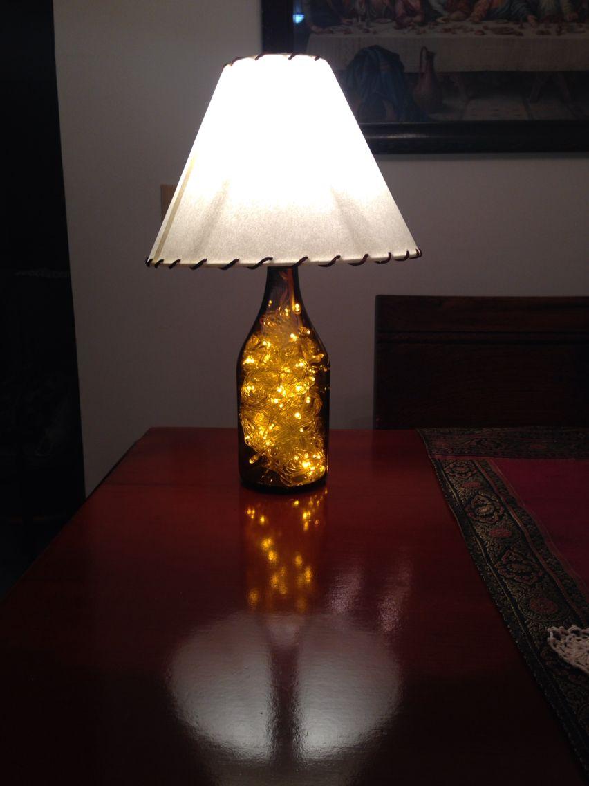 Como Hacer Lamparas Con Botellas De Vidrio Recicladas Botella De Vidrio Reciclada Hecha Lampara Botellas De Vidrio