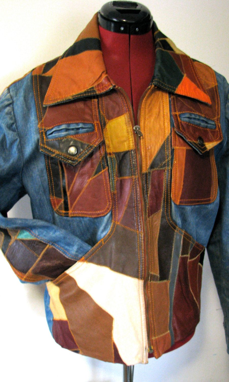 54d4f7471 Patchwork 70's Denim and Leather Jacket | Patchwork | Vintage ...