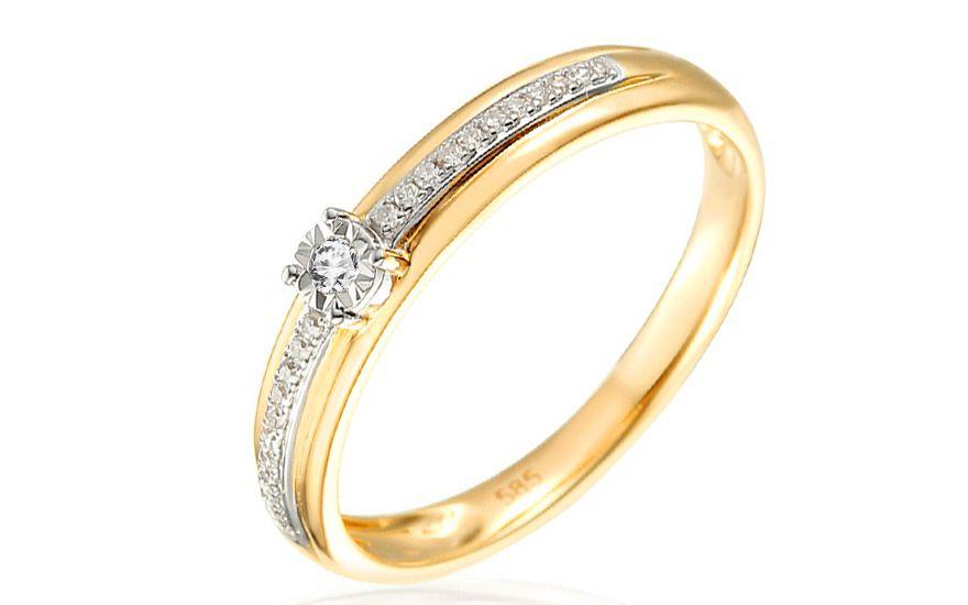Zlatý zásnubní prsten s diamanty Harper  e75468a3948