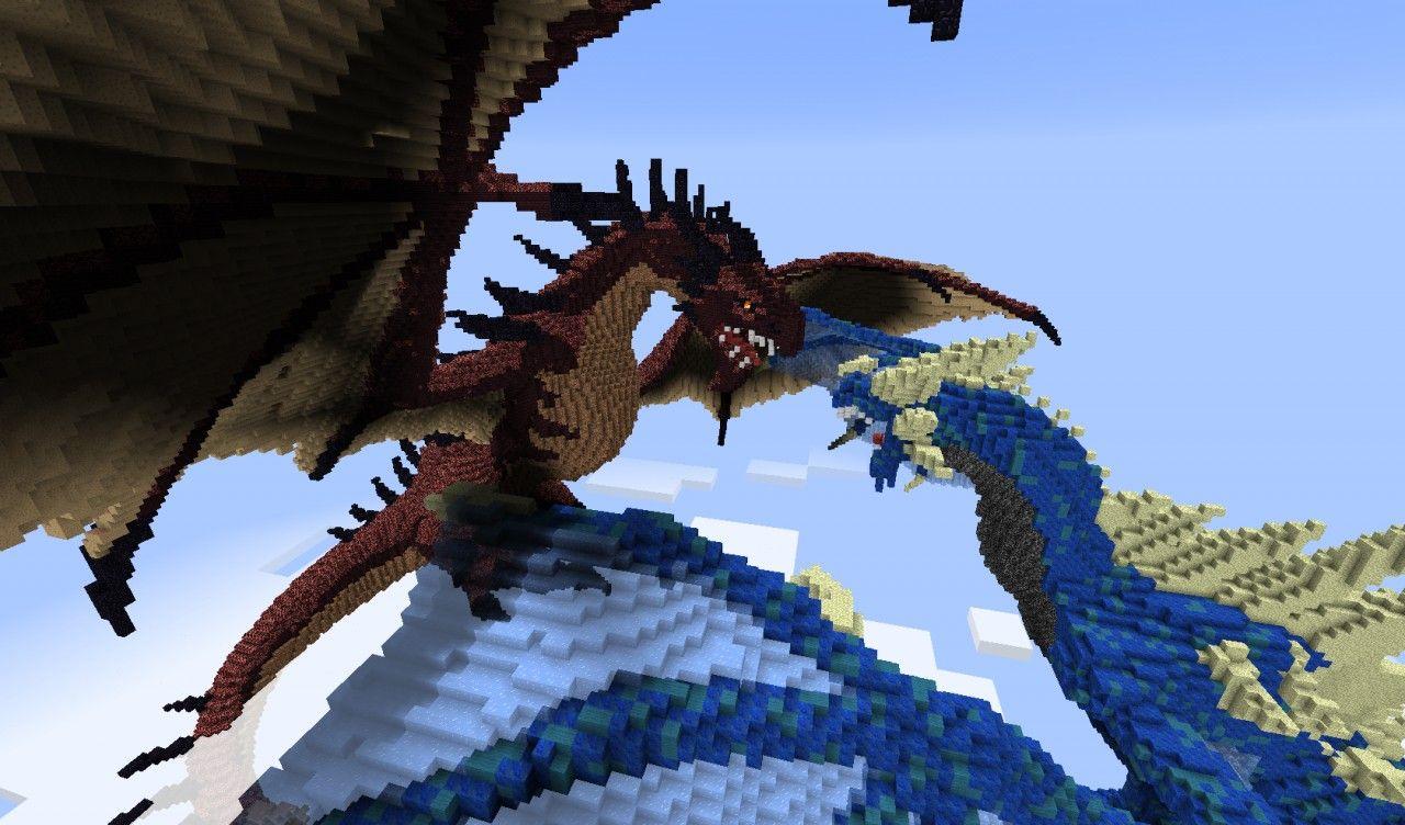 dragons minecraft | Dragons Merceron And Perinthus | Minecraft ...