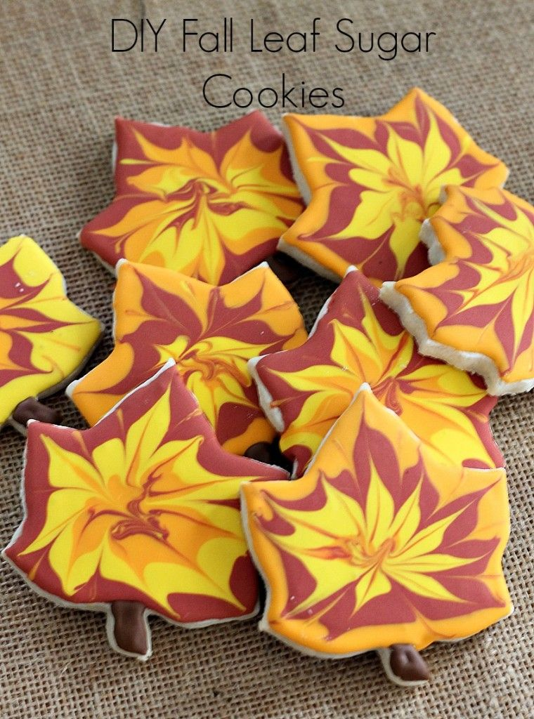 Cookies decorated for fall are easy to do if you f