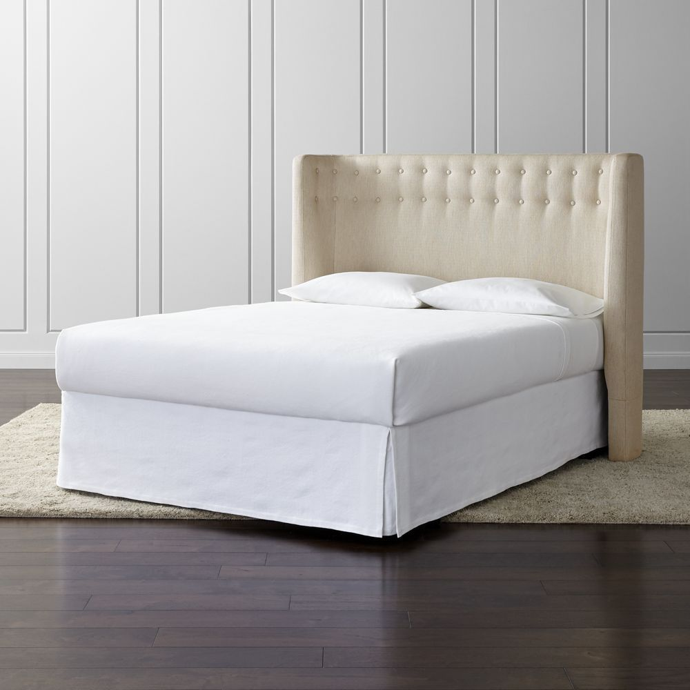 Gia Upholstered Queen Headboard Crate And Barrel Queen