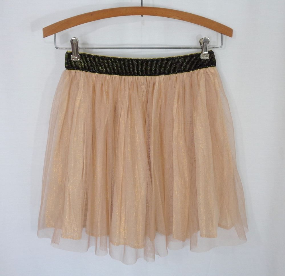 Womens decree pink gold metallic pleated elastic waist lined short