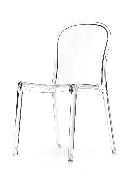 Exceptionnel Item Must Be Ordered In Increments Of 6, Genoa Polycarbonate Chair In Clear,  500 Lb. Static Load Capacity, Stackable, Transparent, One Piece  Polycarbonate ...