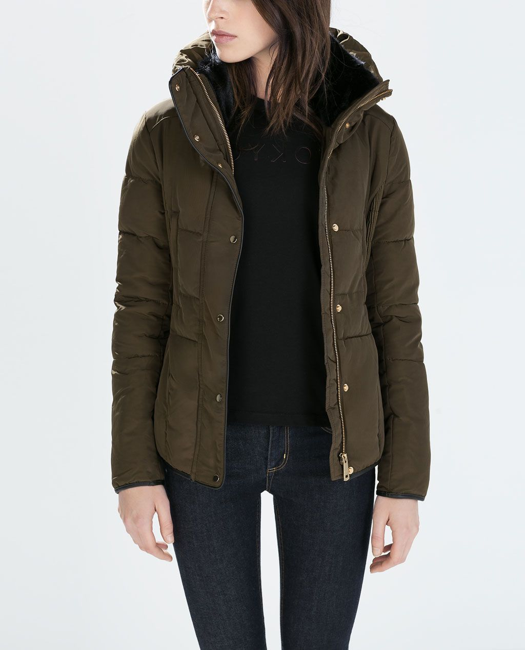 FITTED SHORT ANORAK-Quilted coat-Outerwear-WOMAN-SALE | ZARA ...