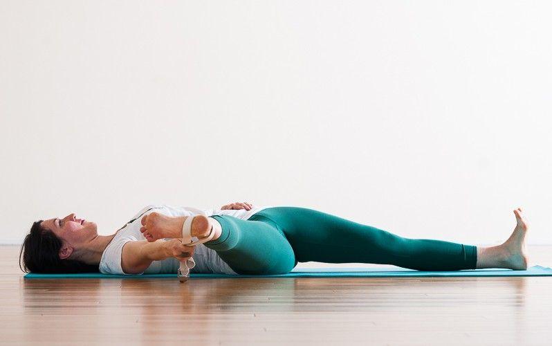 Parshva Supta Padangusthasana   Purna Yoga Hip Series by ...