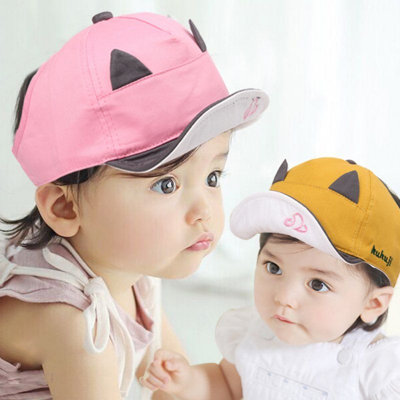 c53edfc763971 Summer Baby Kids Boys Girls Infant Casual Sun Hat Soft Ajustable Cartoon Baseball  Cap H34  Affiliate