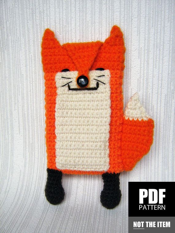 Cute Fox Crochet Cell Phone Case Pattern | Mobile Cover Crochet ...