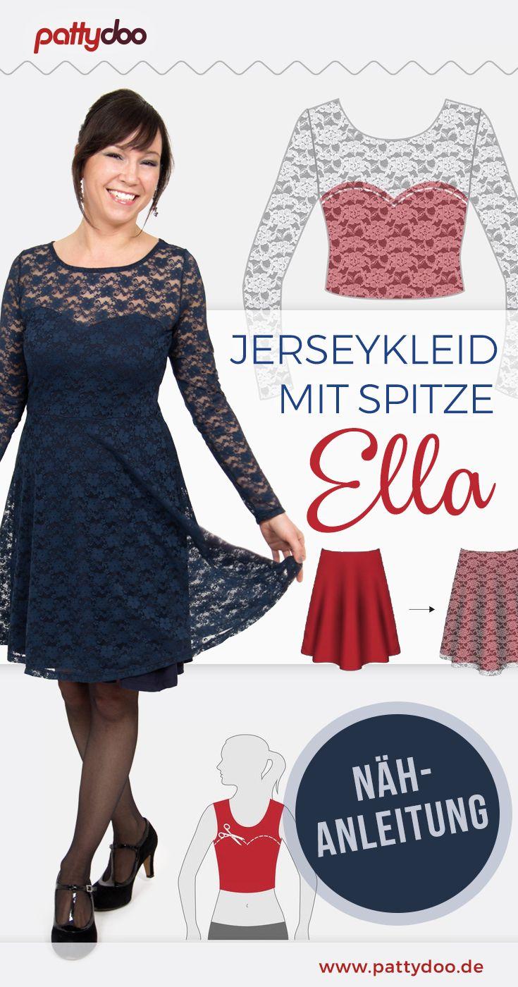 Nähanleitung Spitzenkleid Ella #keinekleidungnähen