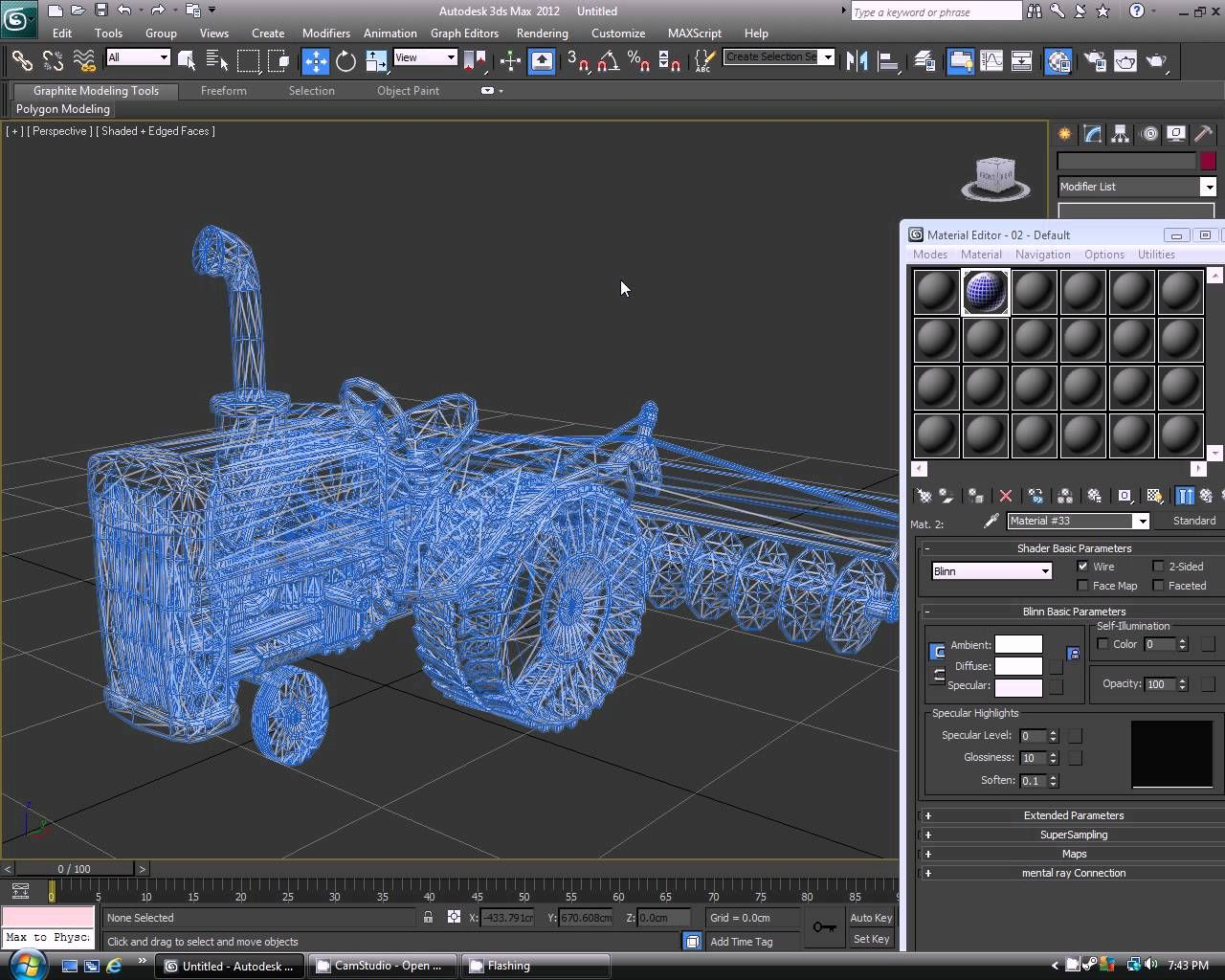How to render a wireframe in 3ds max   3d model   Polygon