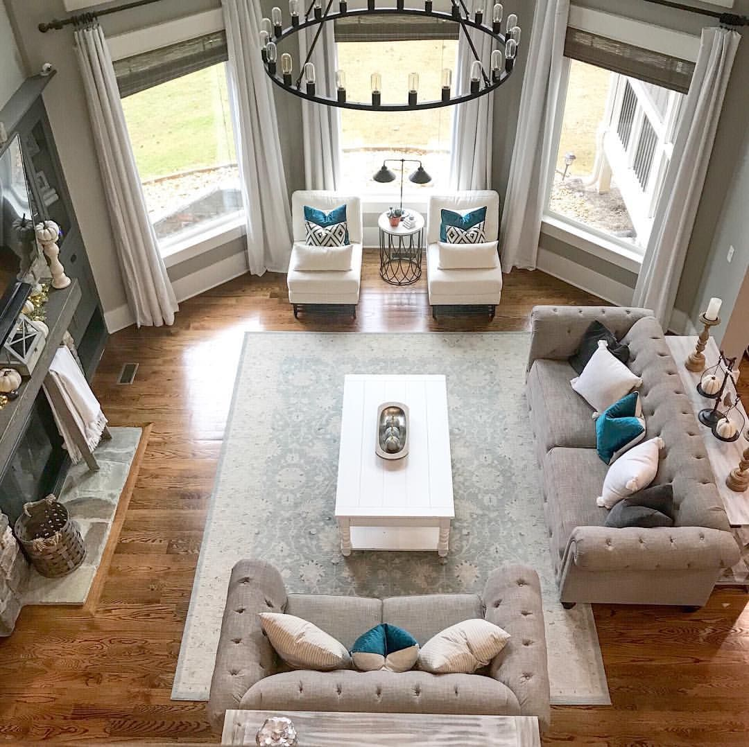 Like the wall + floor colors and the bay window (so light ...