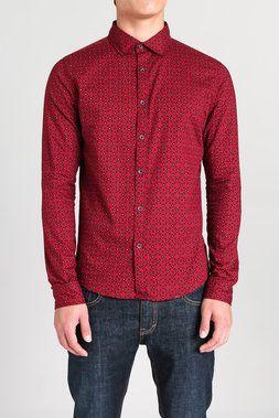 Floral Diamond L/S Woven Shirt