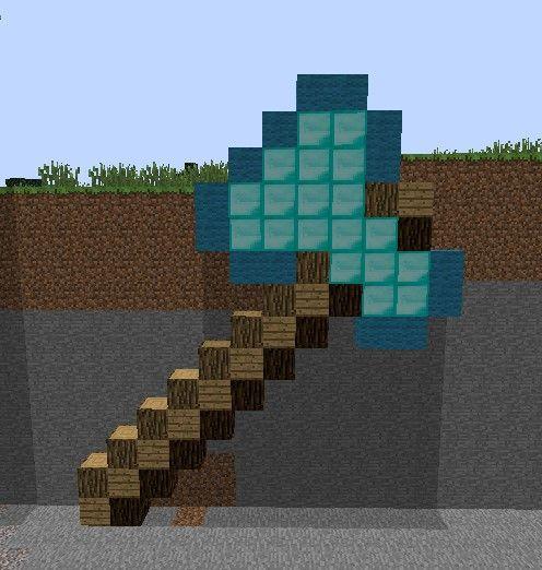 Pixel Art Templates Minecraft Pickaxe Pixel Art Template